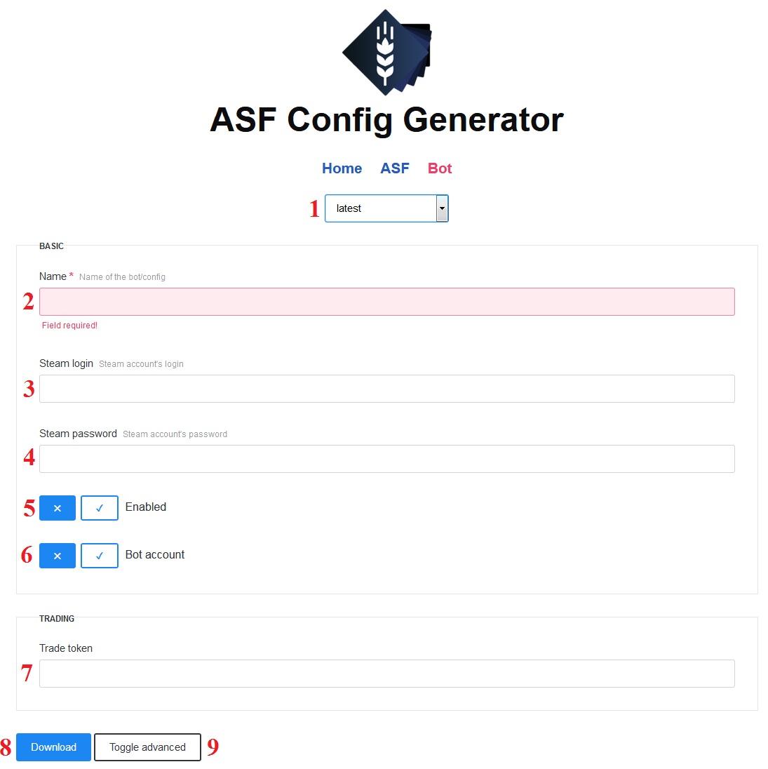 asf bot config