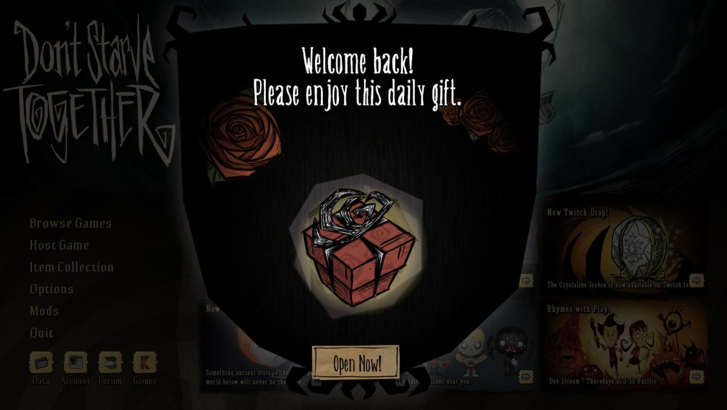 Dont'Starve Together gift